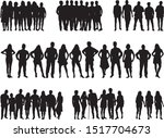 group of people. crowd of... | Shutterstock .eps vector #1517704673