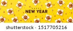 new year's gifts flat top view. ... | Shutterstock .eps vector #1517705216