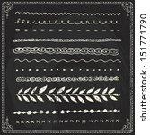 chalkboard chalk draw line... | Shutterstock .eps vector #151771790