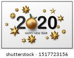 stock vector happy new year and ...   Shutterstock .eps vector #1517723156