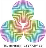 Triple Spiral Symbol Icon...