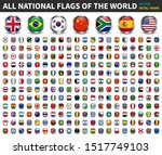 all national flags of the world ... | Shutterstock .eps vector #1517749103
