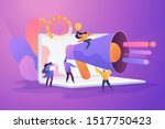 word of mouth promotion flat... | Shutterstock .eps vector #1517750423