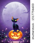 halloween invitation with copy...   Shutterstock .eps vector #1517756603