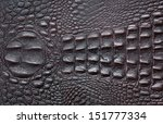 A Crocodile Texture Leather ...