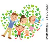 clover and family | Shutterstock .eps vector #151778030