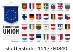 european union flags and... | Shutterstock .eps vector #1517780840