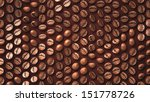 coffee bean zoom up pattern... | Shutterstock . vector #151778726