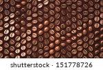 coffee bean zoom up pattern... | Shutterstock . vector #151778726
