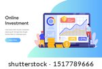 online investment with laptop...
