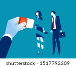 manager removed employee with... | Shutterstock .eps vector #1517792309