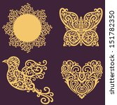 Vector Set With Ornate Design...