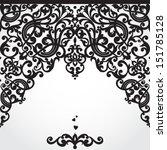vector baroque seamless border... | Shutterstock .eps vector #151785128