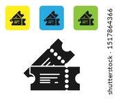 black cinema ticket icon... | Shutterstock .eps vector #1517864366