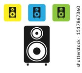 black stereo speaker icon... | Shutterstock .eps vector #1517867360
