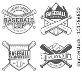 Set Of Vintage Baseball Labels...