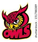 Stock vector owls head mascot 151788389