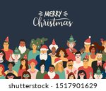 christmas and happy new year... | Shutterstock .eps vector #1517901629