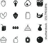 food vector icon set such as ... | Shutterstock .eps vector #1517901896