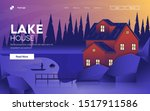 landing page template of lake... | Shutterstock .eps vector #1517911586
