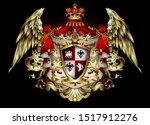 heraldic background with a red... | Shutterstock .eps vector #1517912276
