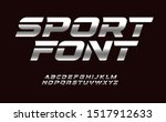 sport font with chrome texture. ... | Shutterstock .eps vector #1517912633