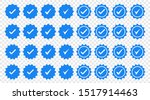 set of blue check mark badge... | Shutterstock .eps vector #1517914463