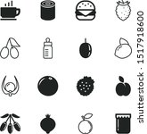 food vector icon set such as ... | Shutterstock .eps vector #1517918600