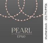 Elegant 3d Pink Pearls. Pearl...