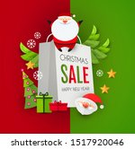 christmas sale design template... | Shutterstock .eps vector #1517920046