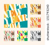new year 2014 greeting tag and... | Shutterstock .eps vector #151793240