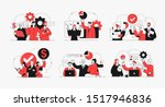 collection of succesfull team... | Shutterstock .eps vector #1517946836