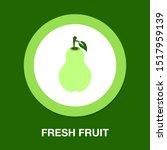 vector pear illustration... | Shutterstock .eps vector #1517959139