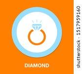 vector diamond ring   wedding... | Shutterstock .eps vector #1517959160