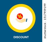 discount sale percent sign icon ... | Shutterstock .eps vector #1517959199