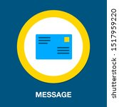 message icon  envelope... | Shutterstock .eps vector #1517959220