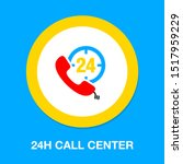 24h call center   help icon ... | Shutterstock .eps vector #1517959229