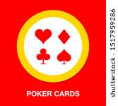 vector playing cards symbols ... | Shutterstock .eps vector #1517959286