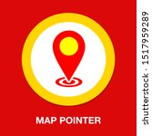 map pointer  map pin  map icon  ... | Shutterstock .eps vector #1517959289