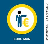business man with euro sign  ... | Shutterstock .eps vector #1517959310