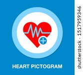 heart icon with add sign ... | Shutterstock .eps vector #1517959346