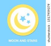 moon and stars dark night icon  ... | Shutterstock .eps vector #1517959379