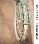 the back of a vintage bicycle | Shutterstock . vector #151798736