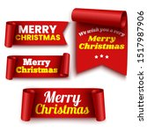 set of red christmas banners.... | Shutterstock .eps vector #1517987906