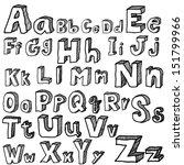 font freehand vector | Shutterstock .eps vector #151799966