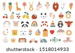 collection of  bohemian baby... | Shutterstock .eps vector #1518014933
