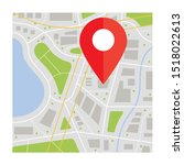 location icon vector. pin sign... | Shutterstock .eps vector #1518022613