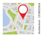 location icon vector. pin sign... | Shutterstock .eps vector #1518022616