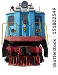Old Blue Locomotive For Design