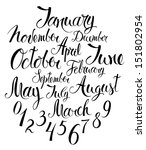 months of the year and numbers | Shutterstock .eps vector #151802954
